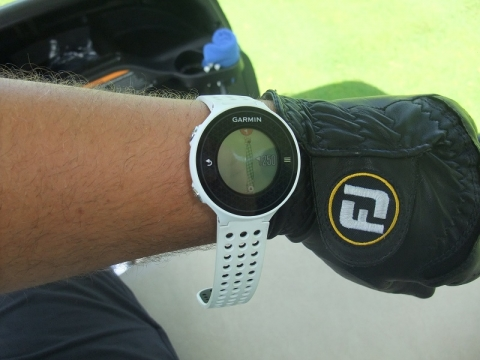 Man wearing Garmin Approach S6